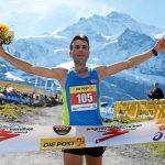 INTERLAKEN, 12SEP15 - Mustafa Shaban (BUL) gewinnt den 23. Jungfrau Marathon am 12. September 2015 auf der Kleinen Scheidegg.  Impression of the 23rd Jungfrau Marathon in Interlaken, Switzerland, on Saturday, September12, 2015.   swiss-image.ch/Photo Remy Steinegger
